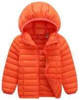 ACMEDE Unisex-baby's Winter Hooded Packable Ultra Light Weight Down Puffer Jacket Outwear