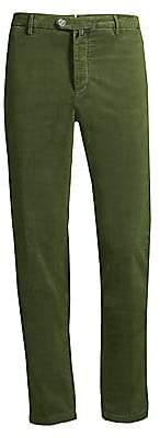 Kiton Men's Moleskin Tab-Button Pants