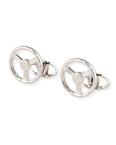 Dunhill Sterling Silver Steering Wheel Cuff Links