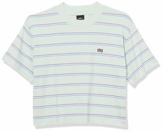 Obey Junior's Cropped Mock Neck Tee