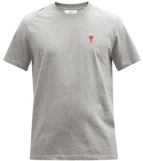 Thumbnail for your product : Ami De Cur-logo Organic-cotton Jersey T-shirt - Grey