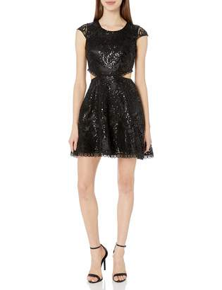 My Michelle Women's All Over Lace Dress with Cut Outs