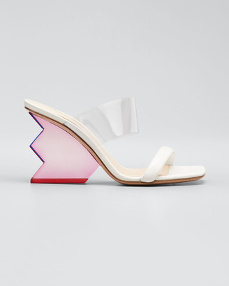Nicholas Kirkwood Aurora Structural-Heel Leather Mule Sandals