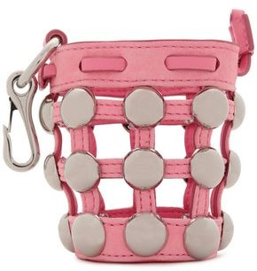 Alexander Wang Mini Roxy Studded Caged Suede Keychain