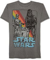 JEM Men's Star Wars C-3PO, R2-D2 and Chewbacca Graphic-Print T-Shirt