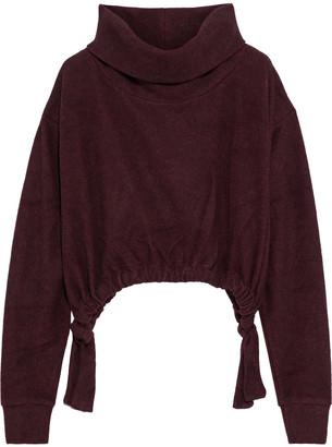 Twenty Montreal Cropped Ruched Fleece Sweatshirt
