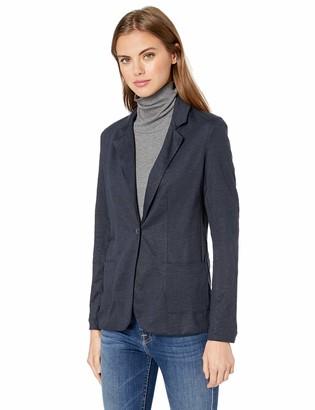 Majestic Filatures Women's Linen Elasthane L/S 1 Button Blazer