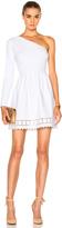 Fendi One Shoulder Laser Cut Mini Dress