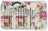 SODIAL(R) 12 Pieces Professional Wool Hair Cosmetic Makeup Brush Set with Rose Flower Case