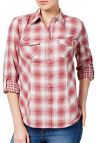 Style And Co. Two Pocket Plaid Shirt