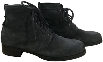 Christian Dior Anthracite Suede Boots