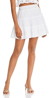 Charo Ruiz Ibiza Pam Cotton A-Line Mini Skirt