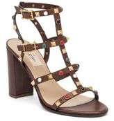 Valentino Vitello Multi-Studded Leather Gladiator Sandals