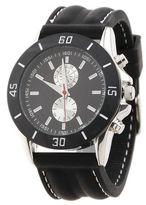 Burton Mens Black Rubber Watch