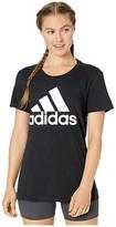 adidas Basic Badge of Sport Short Sleeve Tee (Black) Women's Clothing