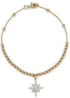 Bloomingdale's Kc Designs Diamond Starburst Bead Bracelet in 14K Yellow Gold