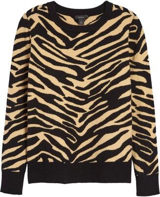 Halogen Patterned Crewneck Sweater