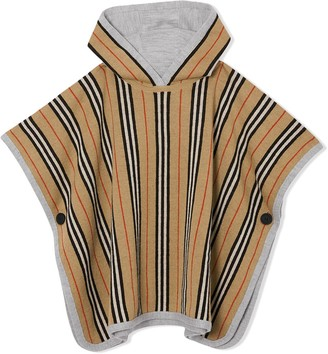 Burberry Reversible striped poncho