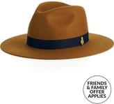Christy CHRISTYS' The Reggie Wool Felt Hat- Tan/navy