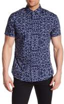 Slate & Stone Patterned Short Sleeve Trim Fit Shirt