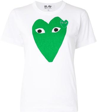 Comme des Garcons heart logo print slim fit T-shirt