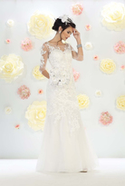 May Queen - Dazzling Embroidered Illusion Sweetheart Neck Mermaid Gown RQ7485
