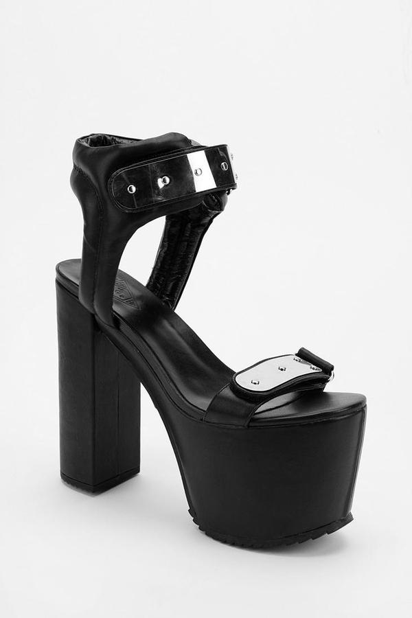 Urban Outfitters UNIF The Gonner Metal Plate Platform Sandal
