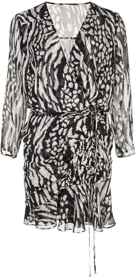 Veronica Beard Kiran wrap silk dress