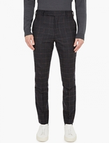 Paul Smith Charcoal Mohair-blend Trousers