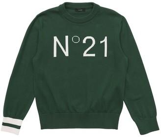 N°21 Logo Cotton Intarsia Knit Sweater