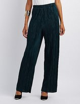 Charlotte Russe Micro Pleated Palazzo Pants