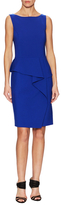 Oscar de la Renta Drape Front Sheath Dress