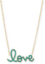 Sydney Evan Jewelry XL Turquoise Yellow Love Necklace in 14K Gold