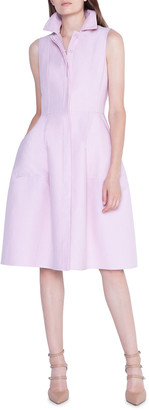 Akris Cotton-Silk Full-Skirt Shirtdress