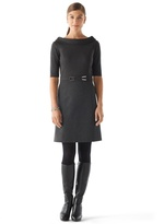 White House Black Market Rolled Collar Ponte Dress