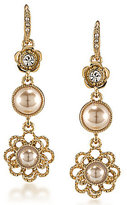 Carolee Union Square Faux-Pearl Linear Drop Earrings