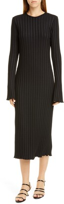 Simon Miller Wells Long Sleeve Midi Dress