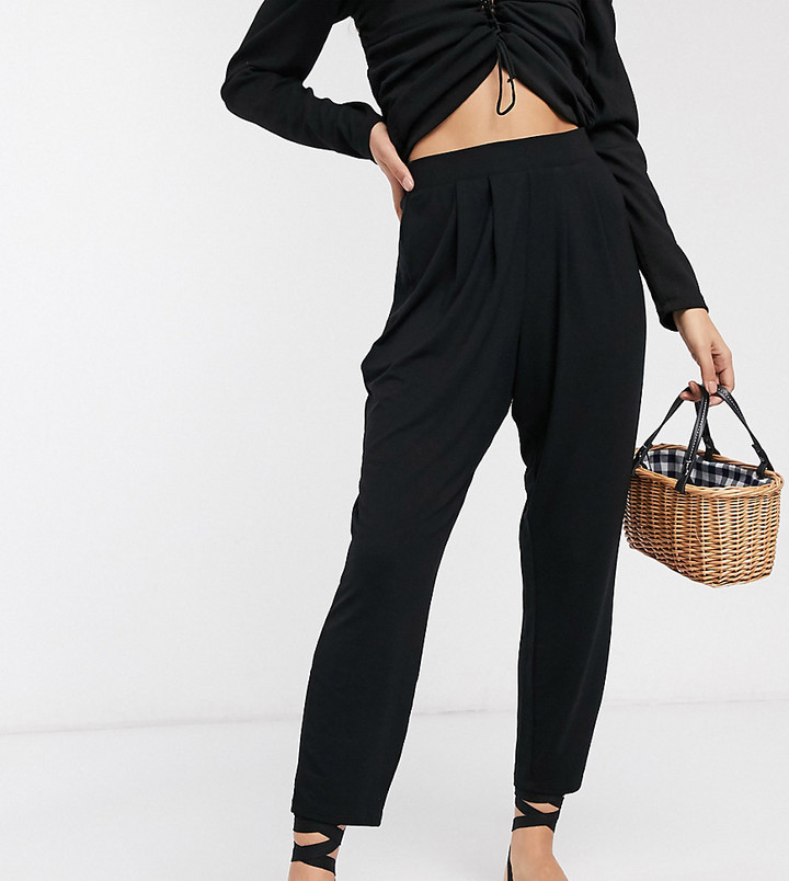 Thumbnail for your product : ASOS DESIGN Petite basic jersey peg trouser