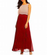 Sangria DWKO624 Sleeveless Popover Accordion Dress