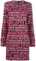 Love Moschino logo print jumper dress - women - Cotton/Spandex/Elastane - 42