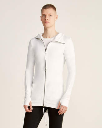 Army Of Me Full-Zip Long Sleeve Linen-Blend Hoodie
