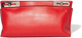 Loewe Missy Large Leather Clutch - Red