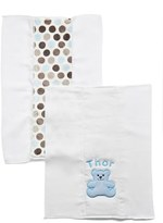 N. Infant Boy's Bibz Thingz Personalized Burp Cloths