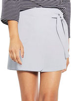 Topshop Utility Wrap-Tie Mini Skirt