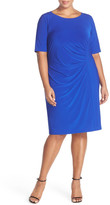 Eliza J Elbow Sleeve Sheath Dress (Plus Size)