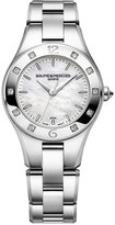 Baume & Mercier Women's Swiss Linea Diamond (1/6 ct. t.w.) Stainless Steel Bracelet Watch with Interchangeable Black Satin Strap 32mm M0A10071