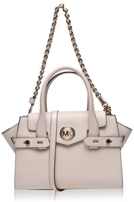 MICHAEL Michael Kors Carmen Leather Belted Satchel Bag