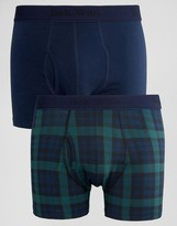 Jack Wills Plaid Check Trunks In 2 Pack