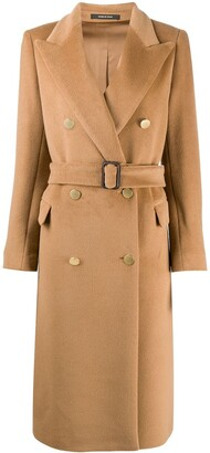 Tagliatore Belted Double Breasted Coat