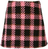 Marni three-dimensional checked skirt - women - Cotton/Wool - 42